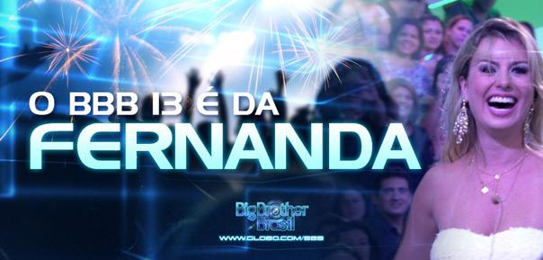 Melhores momentos da Grande Final BBB13 - Fernanda ganhadora