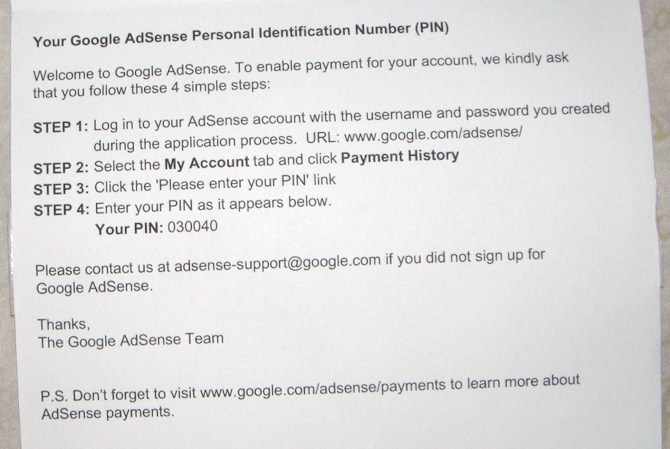 PIN Adsense