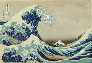 Gravura (xilogravura) - A Grande Onda de Kanagawa