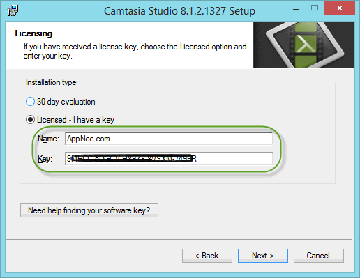 camtasia studio 8 product key and name