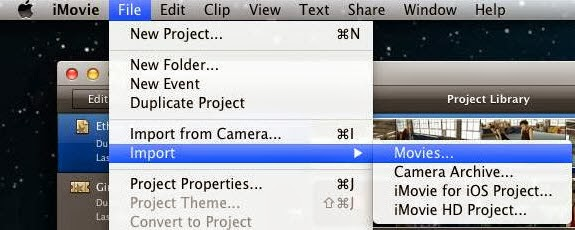 Import Video File to iMovie