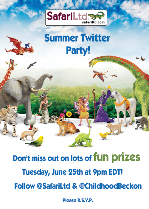 Safari Ltd. Summer Twitter Party- Come chat about #educationalplay in the summer and you could win prizes!