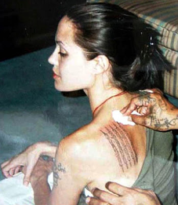 angelina jolie tattoos back