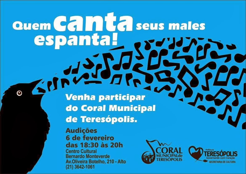 Coral Municipal de Teresópolis realiza audições na próxima semana
