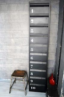 meuble colonne industriel