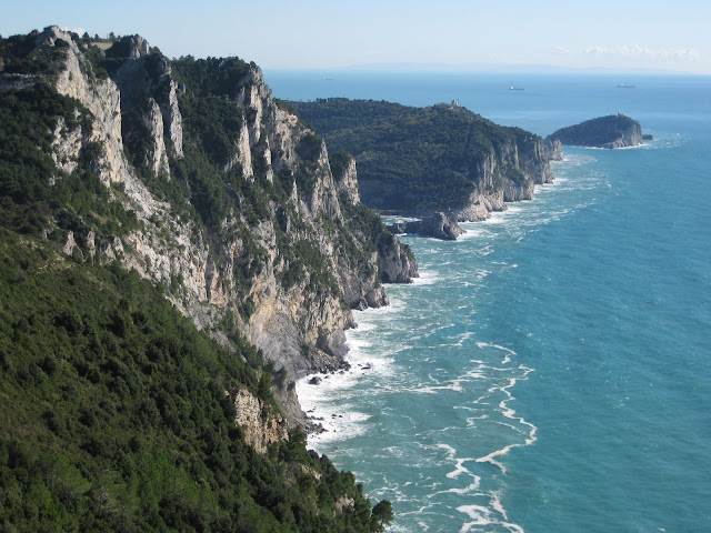 Portovenere peninsula and Palmaria Island and the sea