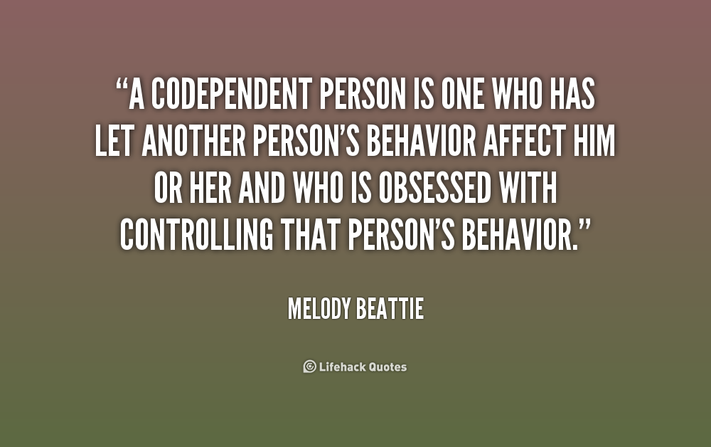 Being codependent