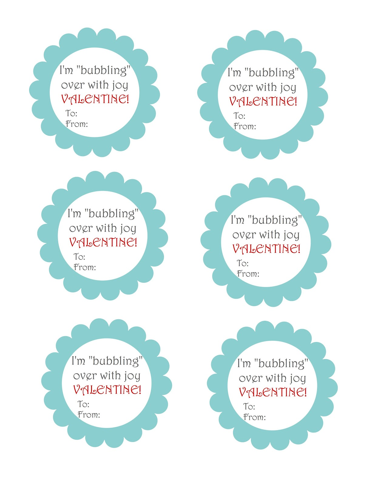 It's just a picture of Divine Bubble Valentine Printable