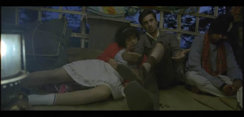 Ranbir and Priyanka in Barfi! (in a truck)