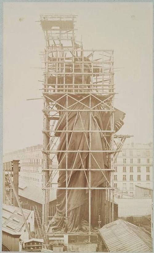 Como se construyó la estatua de la libertad. Construccion-estatua-libertad+%252811%2529