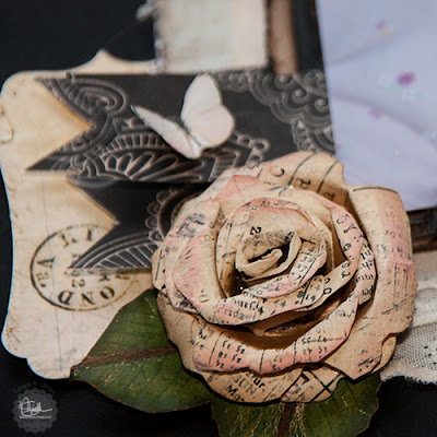 Rolled Rose created by Tonya A. Gibbs using Marion Smith Designs Rolled Rose Printable. #Printable, #TonyaGibbs #Psychomoms #MarionSmithDesigns #hybrid #digital #papercraft