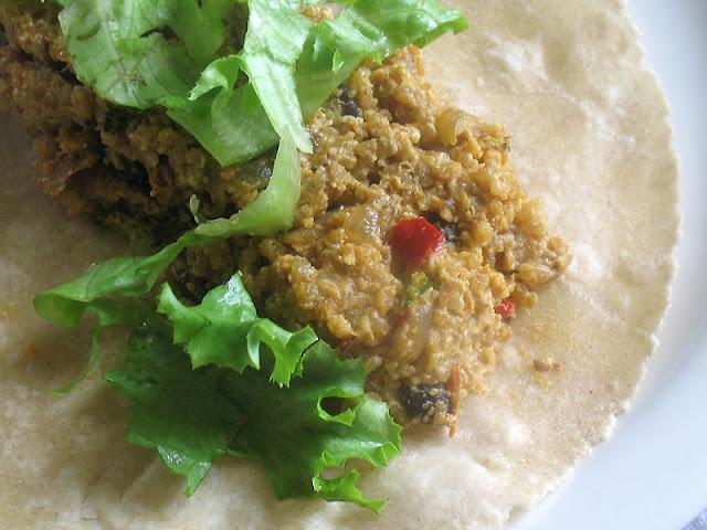 quinoa black bean burrito