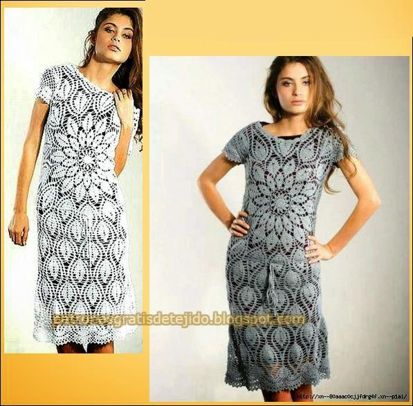 patrones de vestido crochet