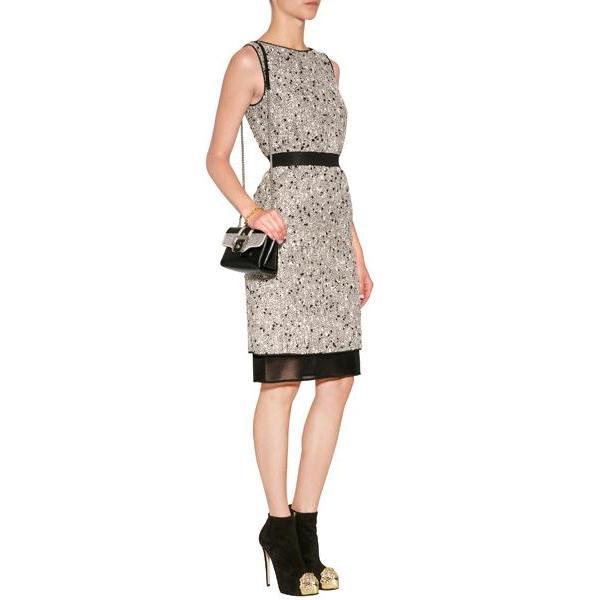 Crown Princess Victoria - Giambattista Valli Gray Wool Blend Dress