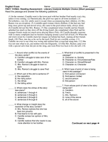 Common Core Reading Assessment - www.traceeorman.com