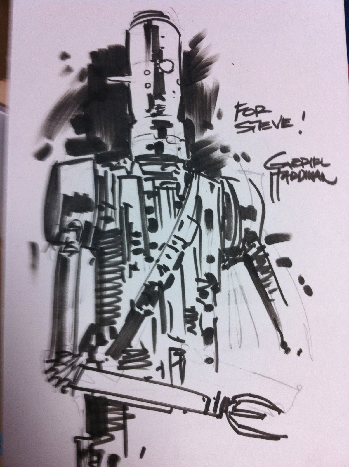 gabriel hardman beach ball comics signing sketches