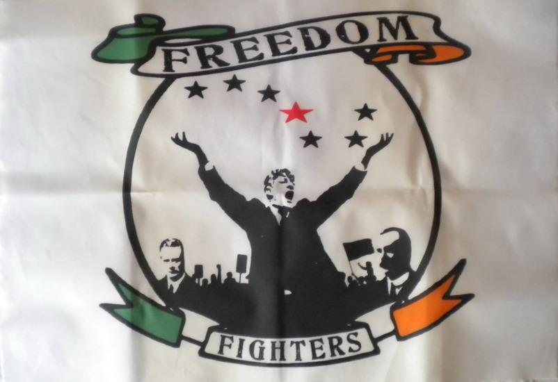 Banderola Freedom Fighters (Mellows, Larkin y Connolly) - 6,80€