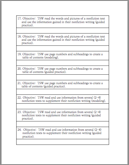... and has a rubric that you can use to evaluate each student's writing