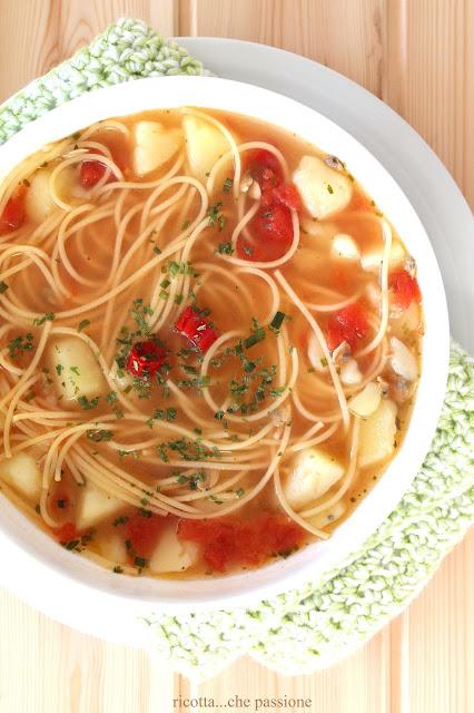 zuppa di patate e vongole