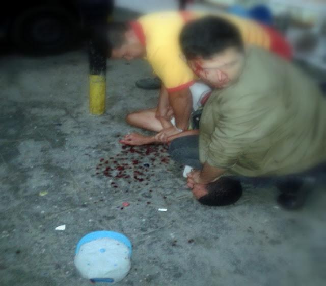 Bandido acaba detido após ferir segurança com garrafa durante assalto a posto de combustíveis