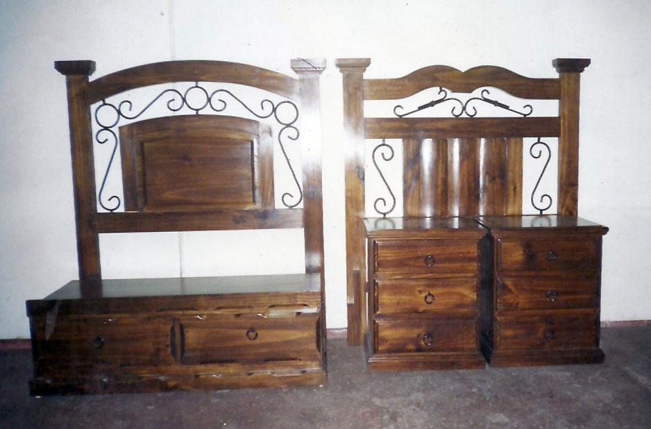 Camas rusticas de madera camas de 1 plaza 1 plaza y for Cama rustica de madera