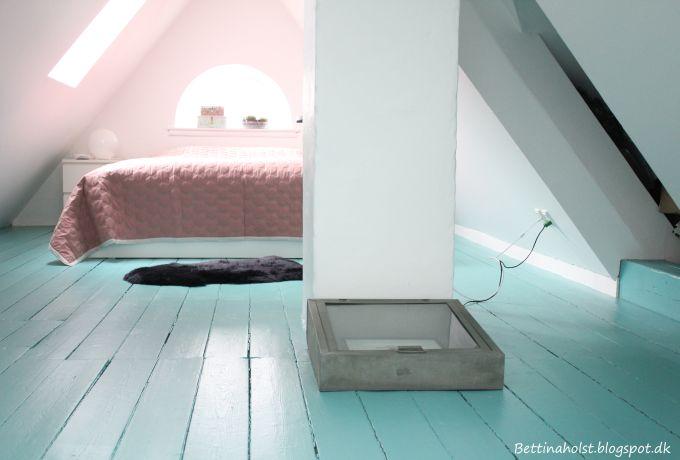 Nu med turkisgrønt gulv - Bettina Holst Blog