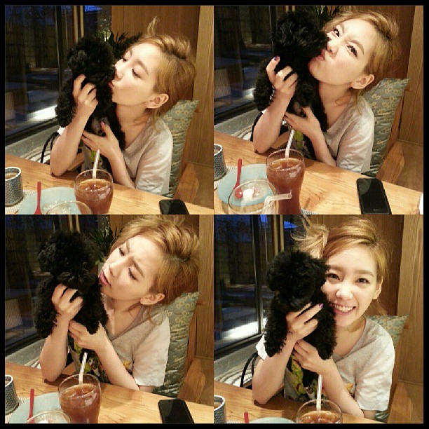 (CAPS) Taeyeon & GinGer 130525+taeyeon+instagram+with+ginger