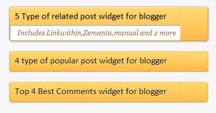 use of widgets