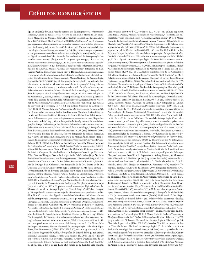 Créditos iconográficos - Historia 4to Bloque 5 2014-2015