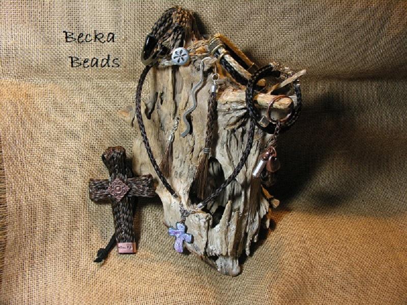 Horsehair Bracelets at www.beckabeads.com