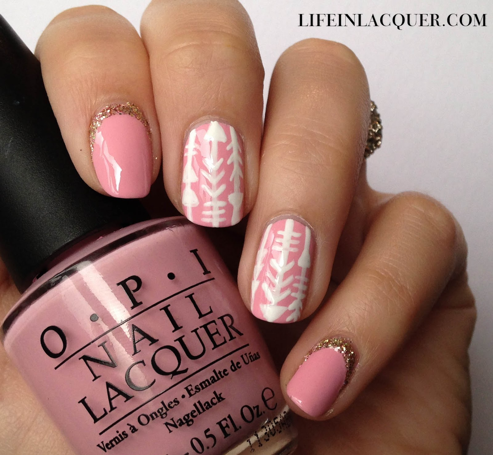 Life In Lacquer Arrow Doodle Nail Art