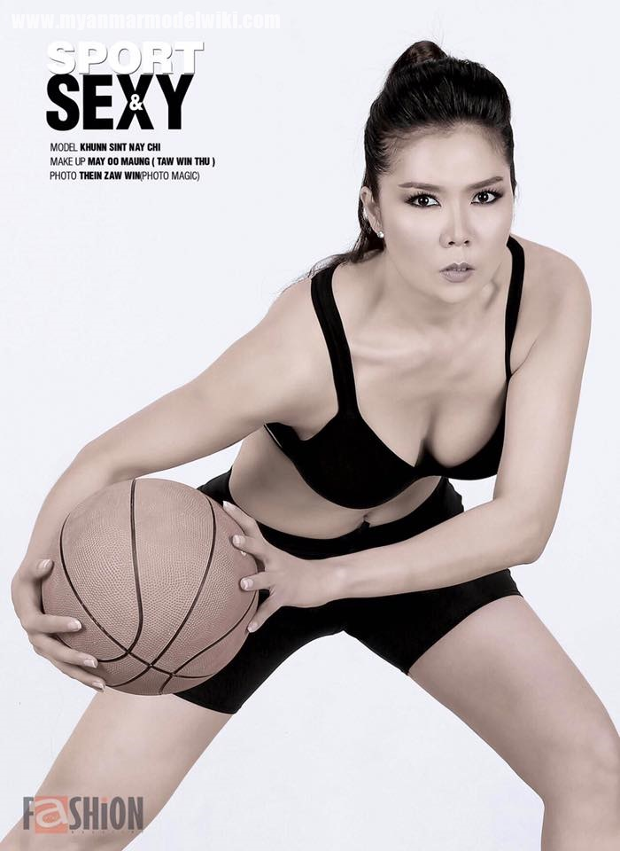 10 Pictures of Myanmar Model Khun Sint Nay Chi Sport Magazine Photoshoot