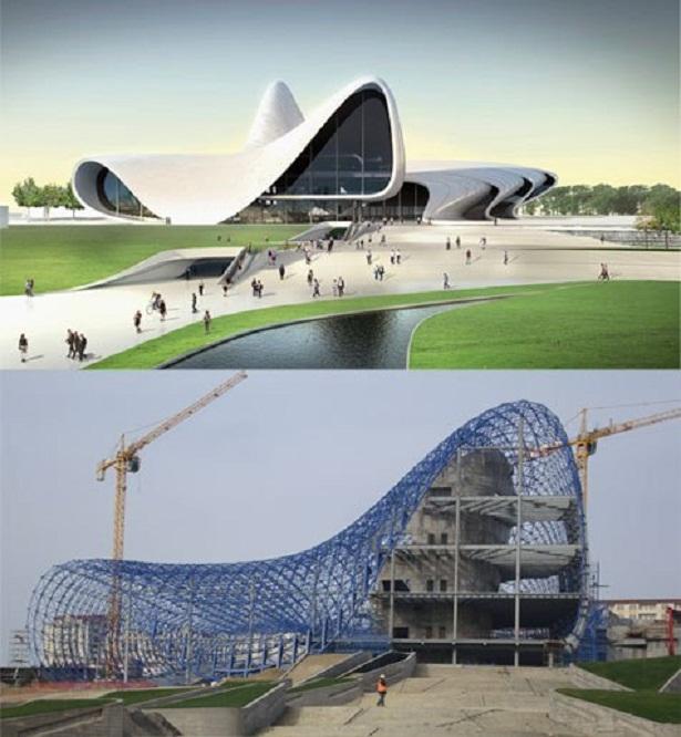 Trung tâm văn hóa Heydar Aliyev ở thủ đô Baku (Azerbaijan)