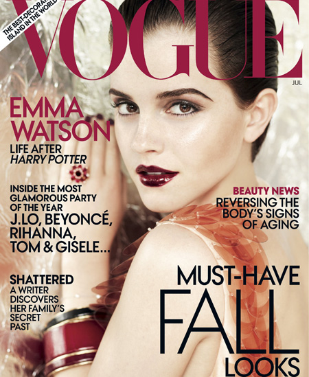 emma watson vogue cover usa. wallpaper emma watson vogue