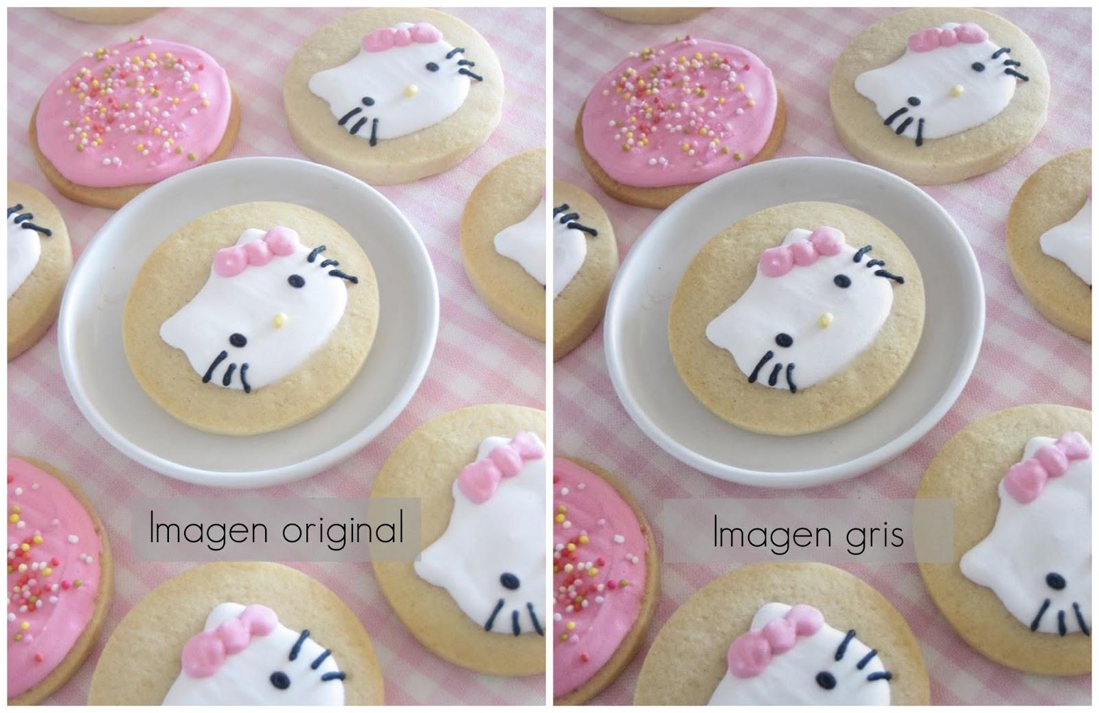 Imagen original e Imagen gris