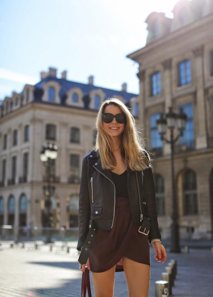 isabel marant, acne, leather jacket, givnechy, céline, place vendôme, fashion blogger, outfit, streetstyle, paris