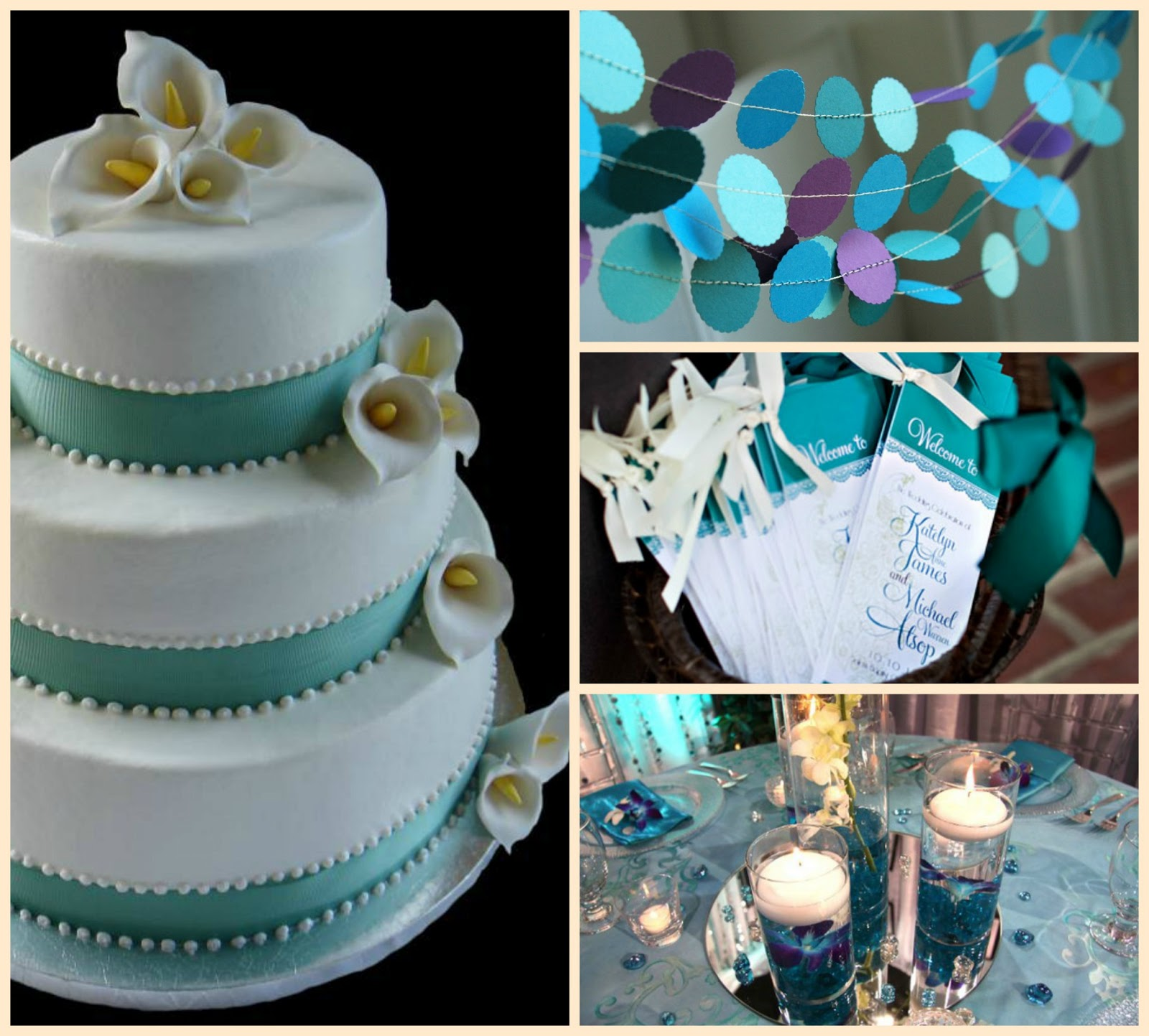 Marriage of passion amp style teal ribbon teal wedding