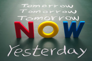 Tomorrow comes really quickly, do not miss today, you will not get the opportunity again.