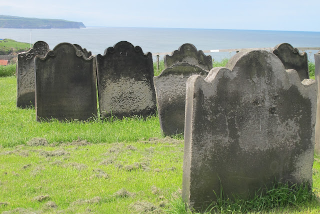 Gravestones at Whitby Abbey