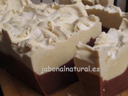 Jabón de chocolate y nata
