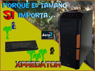 Montaje enfrentando la Aerocool Xpredator con un ZX Spectrum. Tecnoculturas/José Carlos Pedrouzo Varela