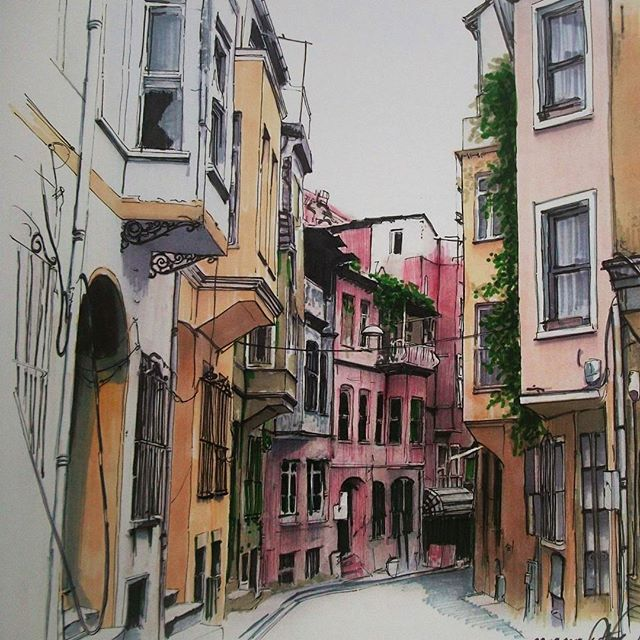 07-Ayşe-Bakır-Versatility-in-Eclectic-Colored-Drawings-www-designstack-co