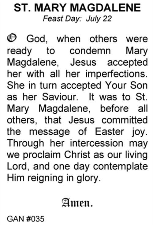 Saint Mary Magdalene Holiday