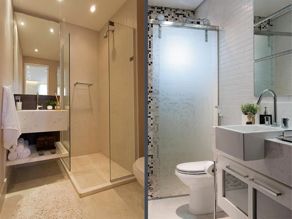 Banheiros Pequenos 5 Dicas + Inspiração Decor  Blog Estilizada -> Decoracao De Banheiro Com Pastilhas Pequeno
