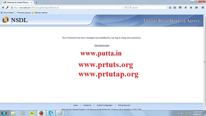 How to Login CPS PRAN account, ~ Putta for Employees