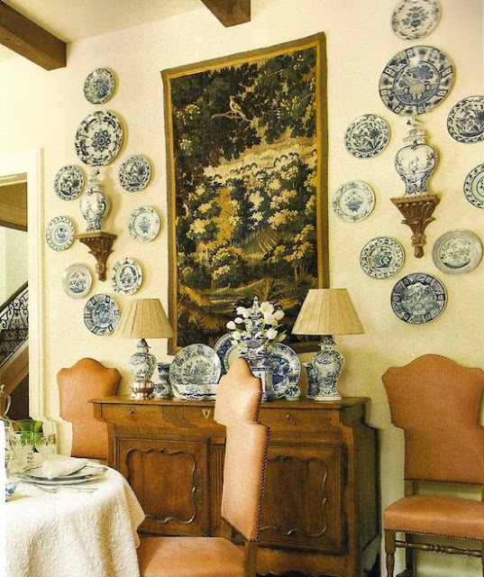 Decorating With Plates And Another Wonderful Giveaway Home Interior Design Ideas