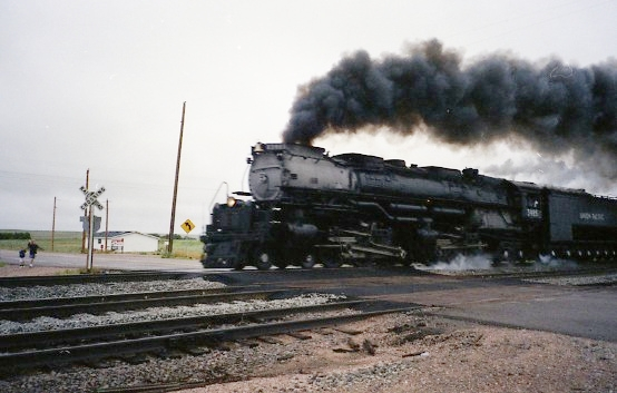 Gambar Kereta Api Lokomotif Uap Union Pacific Challenger 4-6-6-4 3985 03