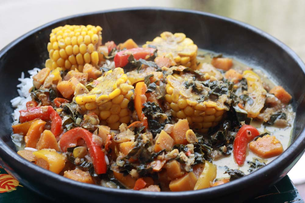 A2k a seasonal veg table caribbean coconut vegetable rundown i have been wanting to make a vegetarian rundown at home for a long while and it only happened because i had most of the ingredients and more forumfinder Images