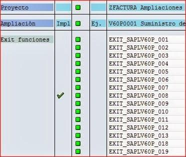 Lista de componentes de la ampliación V60P0001