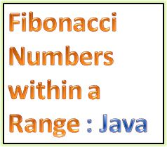 Java Program to Find Fibonacci Numbers within a Range